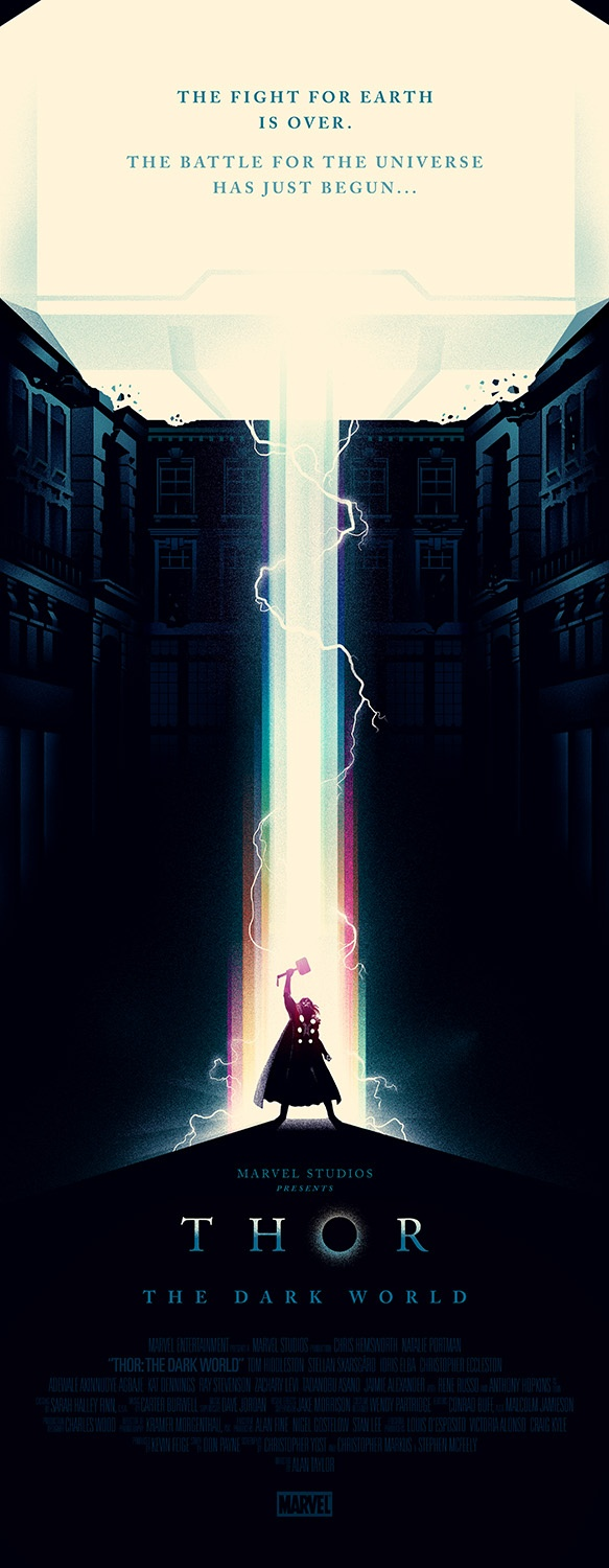 Thor poster by Olly Moss