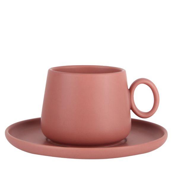 Soho Teacup & Saucer 250ml - Chestnut