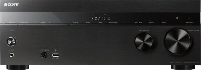 Sony - 725W 5.2-Ch. Full HD and 3D Pass-Through A/V Home Theater Receiver - Black - Front Zoom
