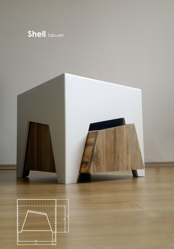 Delightful Shell Taburet On Behance | Wood Chairs | Pinterest | Behance, Galleries And  On Photo