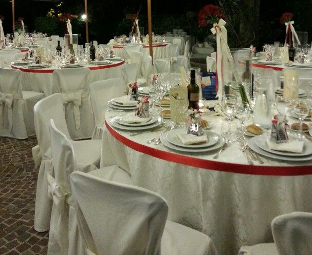 Red and hot wedding : the table!