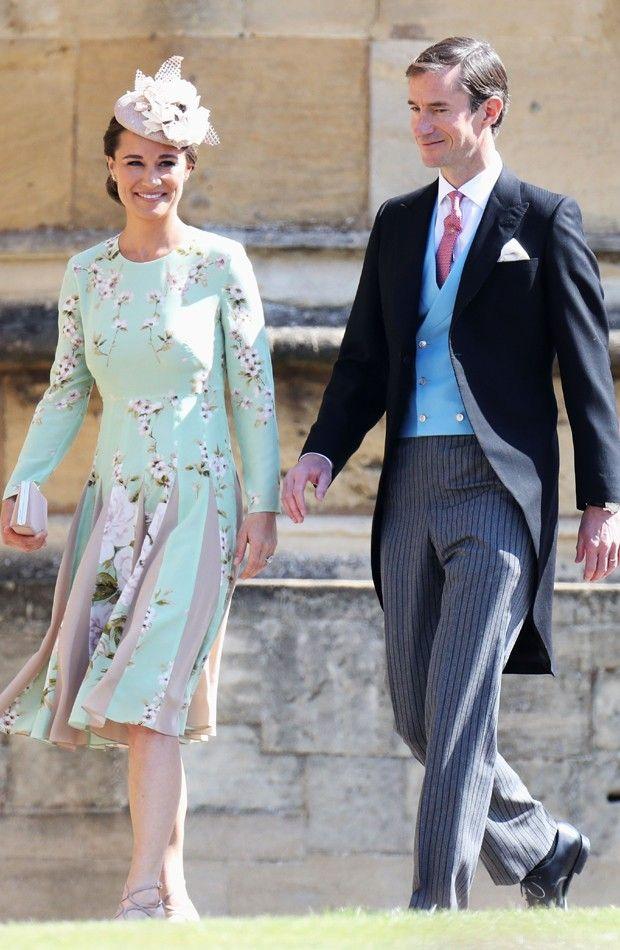 Famosos Vao Ao Casamento Real Do Principe Harry E Meghan Markle Vestidos De Casamento Real Traje De Casamento Pippa Middleton