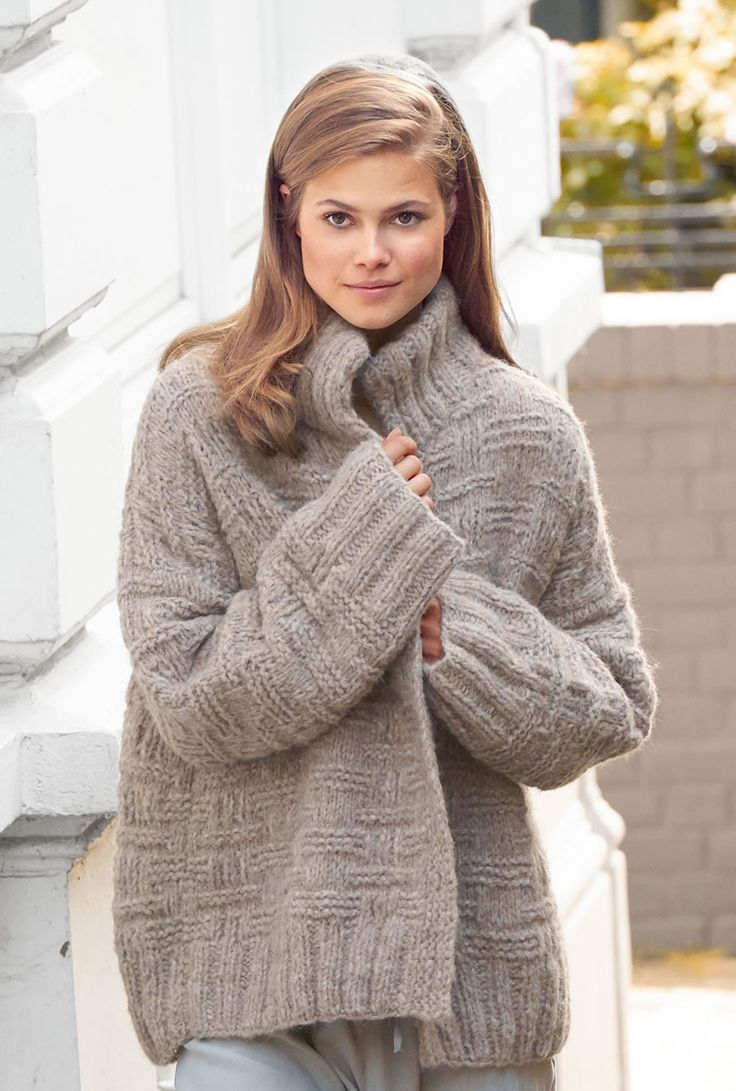 Lana Grossa JACKE IM RIPPENMUSTER Cloud - FILATI No. 52 (Herbst/Winter 2016/17)…  werde diese Jacke zum Oversizepullover umarbeiten mit Mille II in Taupe