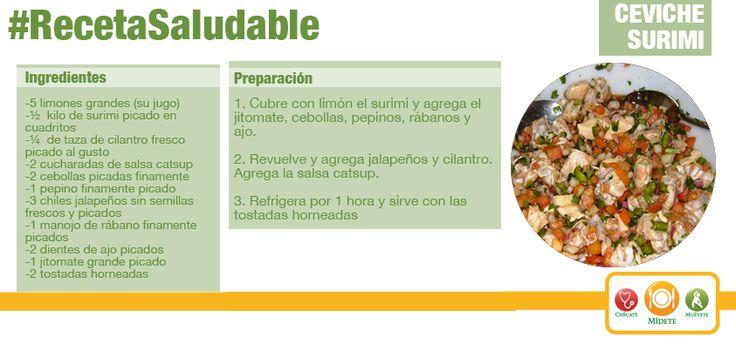 Prepara un delicioso Ceviche de surimi