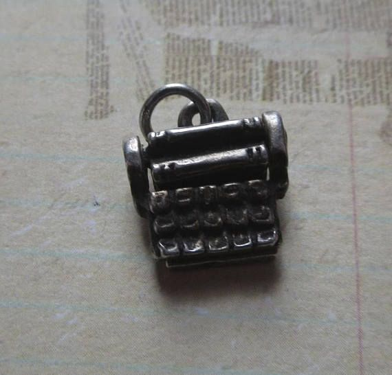 Vintage Sterling Replica Charm of Mechanical Calculator or