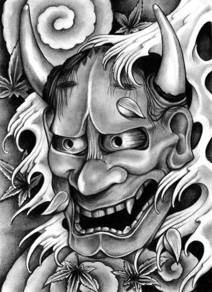 Hannya Mask Art Print