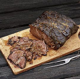 Barbecue-Braised Bourbon Beef with Mustard Glaze