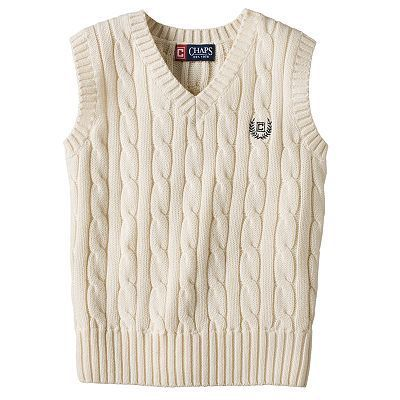 Chaps Cable-Knit Sweater Vest For Men Size X Large  US $25.00   FREE Standard Shipping