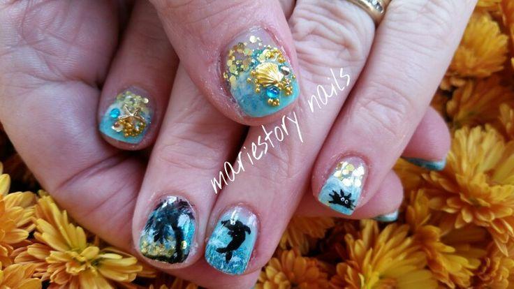 Vacation nails by @ mariestory nails