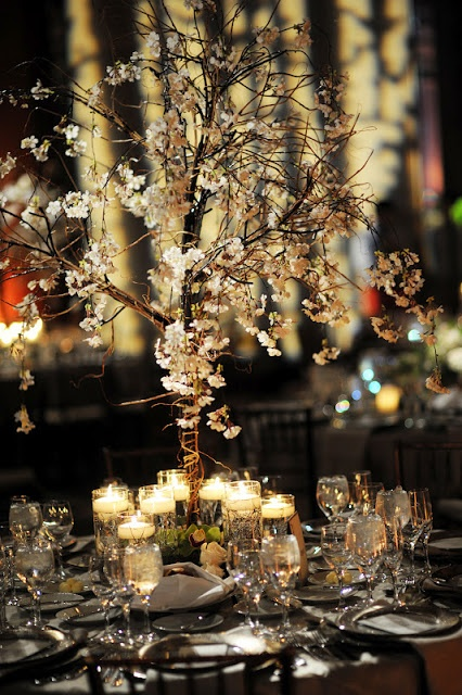 Cherry Blossom Tablescape.