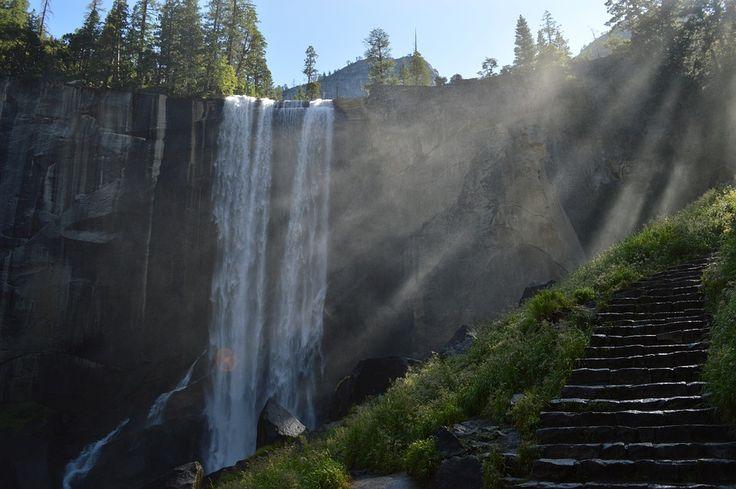 Wodospad, Cliff, Kostium, Schody, Kroki, Góry