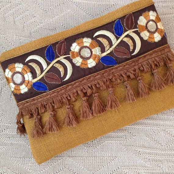 Bohemian Clutch, Womens Bag,Clutch Purse, Boho Style, Mothers day gift, Daily…