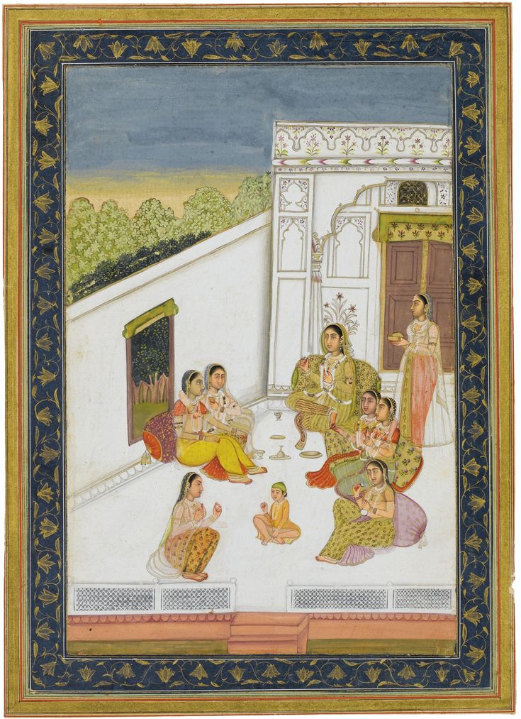 LADIES ON A TERRACE, PROVINCIAL MUGHAL INDIA, CIRCA 1780