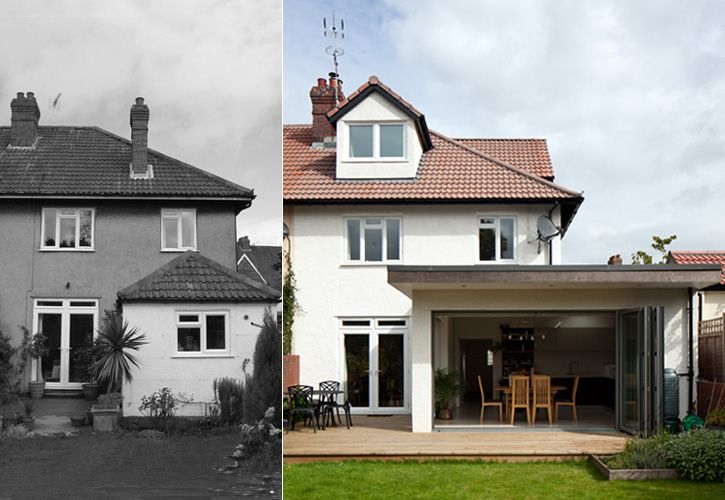 Contemporary home extension and loft conversion to Semi