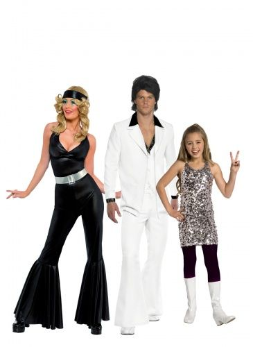 A Capodanno siete invitati ad una festa Anni 80? Questo costume per tutta la famiglia in perfetto stile disco sarà un'idea davvero originale!