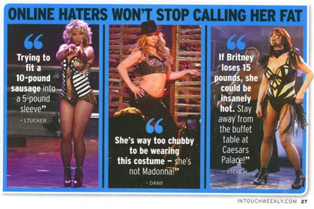 "A group of actual monsters we will refer to as ""Blind Ignorant Haters"" are going around saying horrible, misguided things about Britney Spears' weight. 