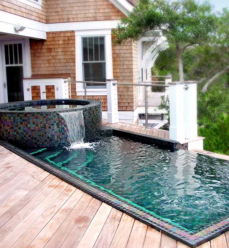 7 best stainless steel pools at home residences images on for Pool and jacuzzi designs
