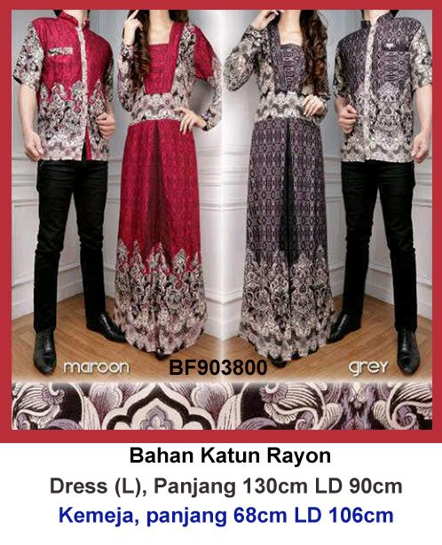 Gamis couple batik 800
