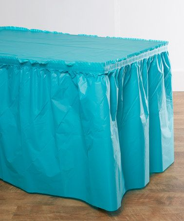 Look what I found on #zulily! Tropical Teal Tablecloth & Table Skirt Set #zulilyfinds