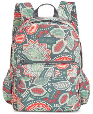 Water bottle, paper, pens and tablet ... there's a place for everything inside this lightweight Vera Bradley backpack, styled in a fabulous signature print with adjustable straps and a front organizer