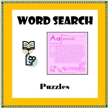 This product contains 26 printable word search puzzles for kids in kindergarten through second grade. These activities are ideal to help students stimulate their brains and be able to recognize words and sequence of letters. They can also expand their vocabulary during workshop time in the literacy centers or as a game for phonics or reading.