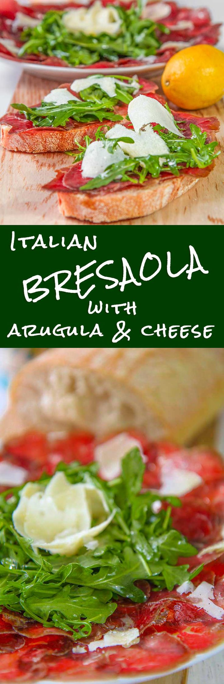 ITALIAN BRESAOLA SALAD with arugula and cheese - Bresaola salad is a great Italian cured meat. It is perfect combined with Parmigiano Reggiano cheese and baby arugula. When I desire serving a quick and easy dish, that recalls my own county, this recipe is my choice. Try the bresaola on also with olives, truffles or Asiago cheese, it is delicious! - sandwich tuscan bread recipes healthy appetizer beef