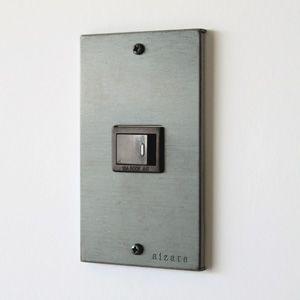 黒皮鉄のスイッチプレート -aizara ヤマナカ産業- black steel plate switch cover