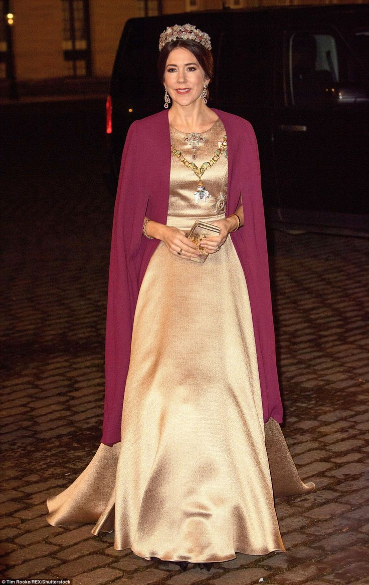 New Year celebrations: Crown Princess Mary was the picture of elegance on January 1 when s...