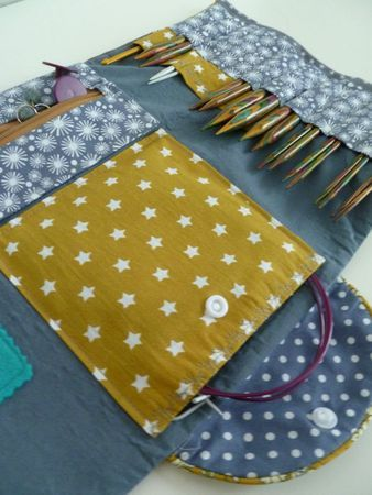 Pouch for knitting needles
