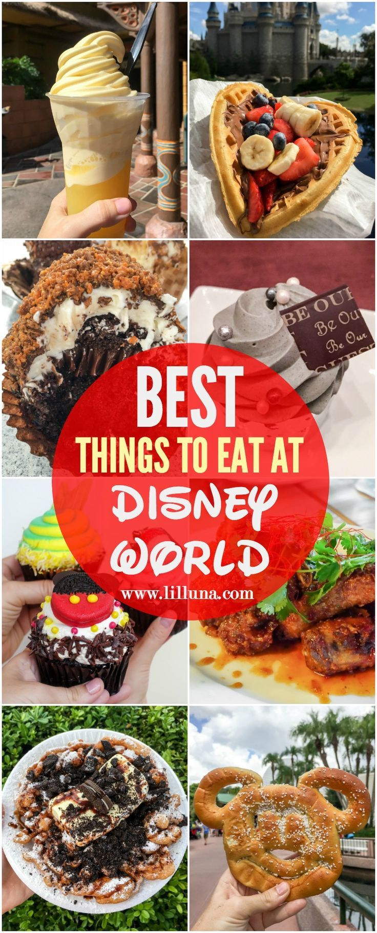 The BEST things to eat at Disney World - a delicious collection of treats, food and snacks to try at the most Magical Place on Earth!