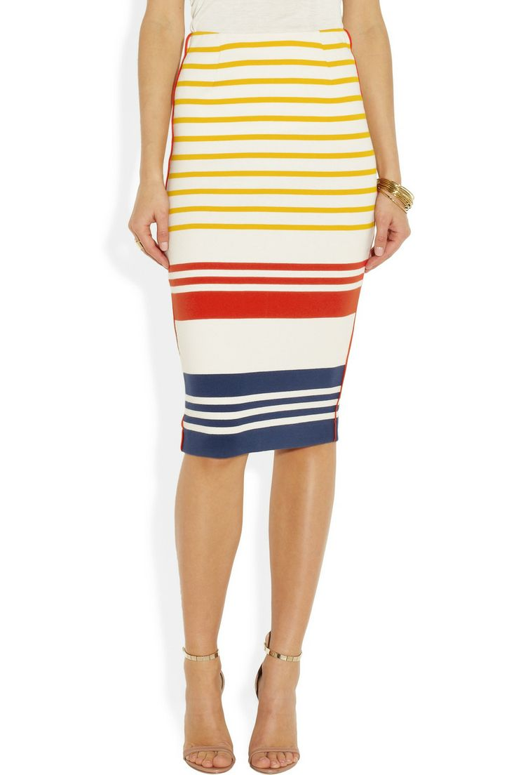 By Malene BirgerTrille striped cotton pencil skirt
