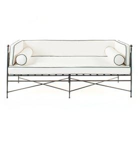 Tuxedo Outdoor Sofa  MidCentury  Modern, Transitional, Upholstery  Fabric, Metal, Sofas  Sectional by English Country Home