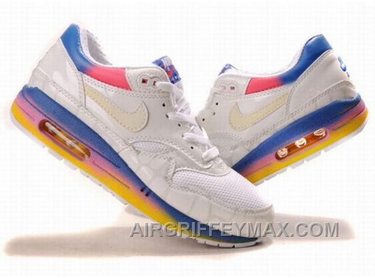 http://www.airgriffeymax.com/new-womens-nike-air-max-87-shoes-white-yellow-pink-blue.html NEW WOMEN'S NIKE AIR MAX 87 SHOES WHITE/YELLOW/PINK/BLUE : $94.93