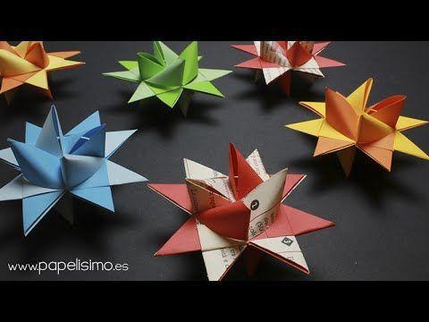 Estrella de papel 3D (Froebel paper stars): La estrella perfecta - YouTube