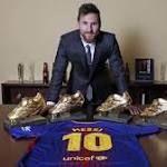 Lionel Messi wins 4th European Golden Shoe award equals Cristiano Ronaldo's record