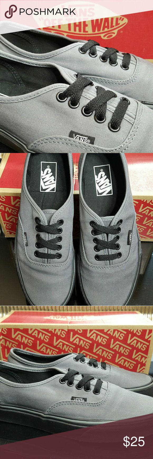 Vans Authentic (Black Sole) Sedona Sage These are like new, barley worn. Comes with the original box. Vans Shoes Sneakers