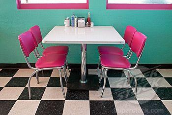 50's diner patterns