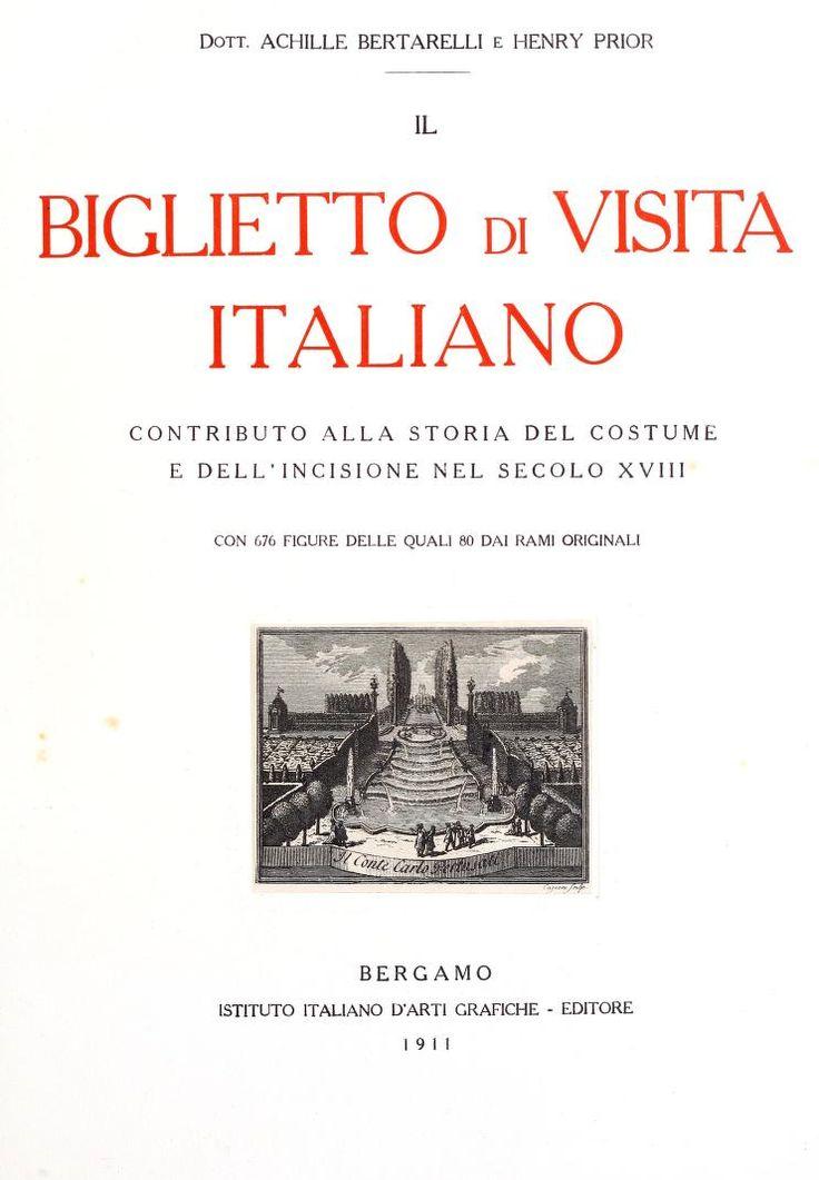 Il biglietto di visita italiano, contributo all...