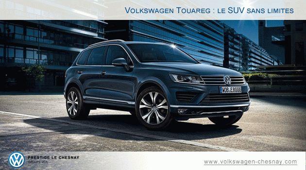 Touareg : le SUV sans limite disponible chez Volkswagen Le Chesnay #Touareg #Volkswagen #SUV #Voiture