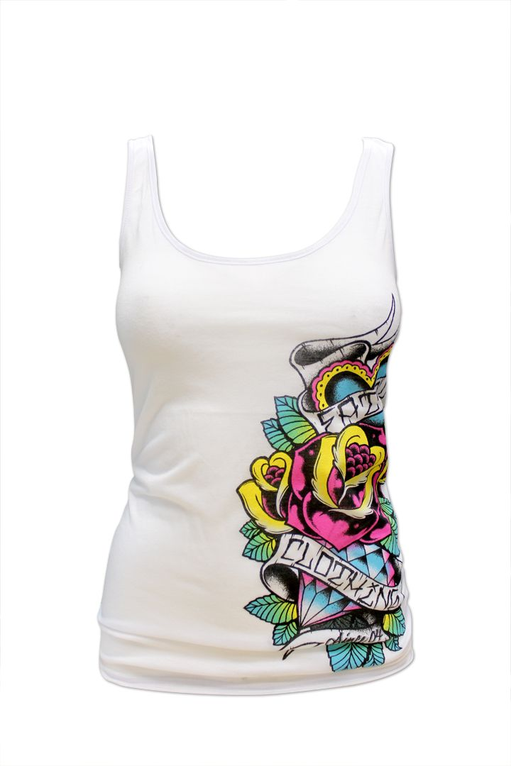 Love Diamonds Womens Tank Top SubCulture Clothing Store