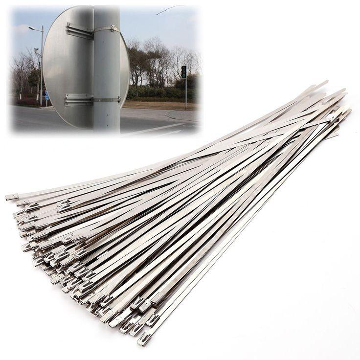 100x Collier De Serrage Autobloquant Inox Longueur 30cm pas cher