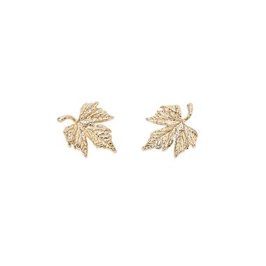 POISON IVY STUDS GOLD - KITTE ACCOUTREMENT - EARRINGS - Products || The Dark Horse Jewellery Australia