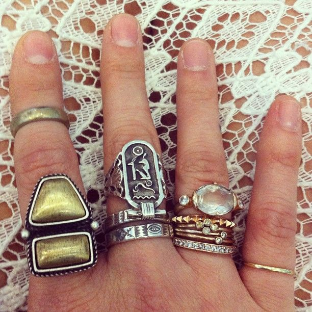 Boho chic jewelry, bohemian style rings, gypsy fashion. For MORE modern hippie trends FOLLOW http://www.pinterest.com/happygolicky/the-best-boho-chic-fashion-bohemian-jewelry-gypsy-/