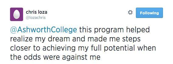 Chris is a graduate of the James Madison High School Online Program.  We're proud of you, Chris!  See more James Madison High School Reviews at:  http://www.jmhs.com/why-jmhs/testimonials