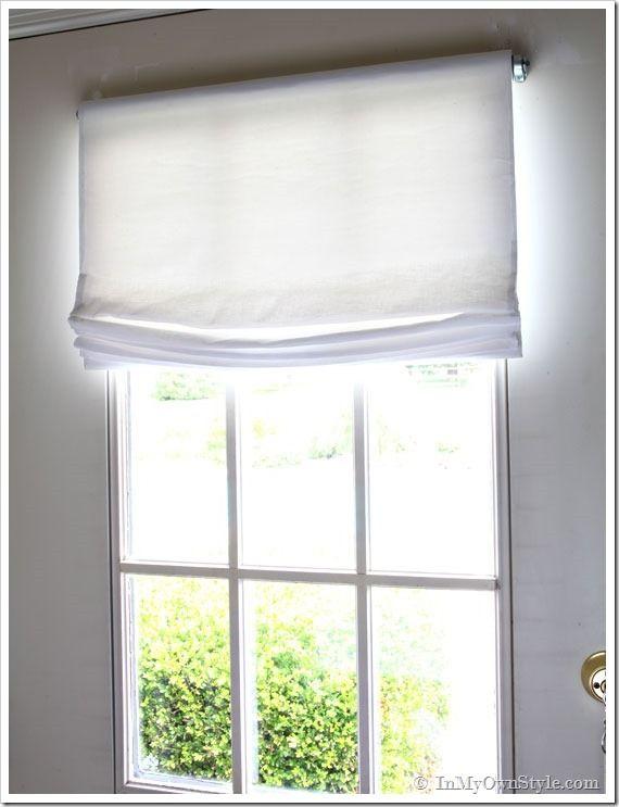 No Sew Window Treatment Relaxed Roman Shades Vinyls