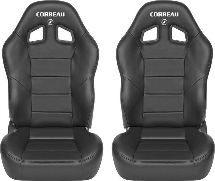 Corbeau Baja XRS Reclining Suspension Seat Pair For JeepR Wrangler YJ TJ JK Unlimited Scrambler Quadratec