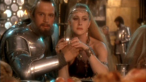 Excalibur, with a young Liam Neeson and young Helen Mirren. Excellent film.