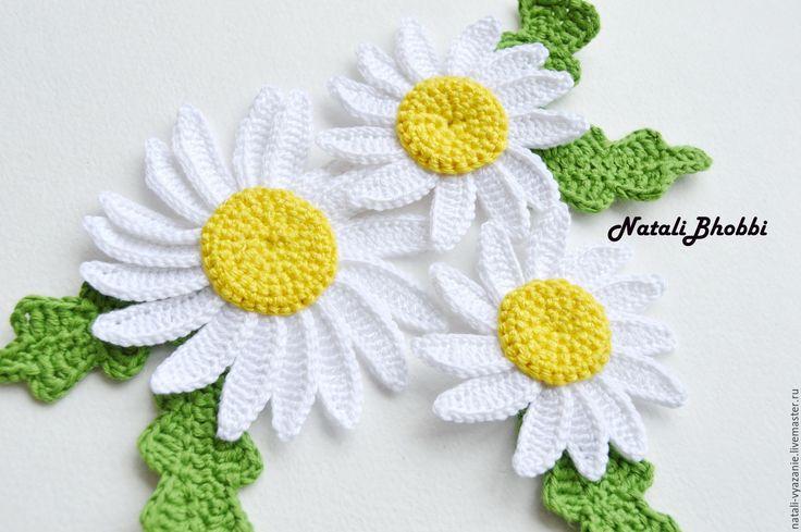Купить Ромашка - ромашка, ромашки, ромашка вязаная, цветы, цветы вязаные, цветы крючком, цветочки