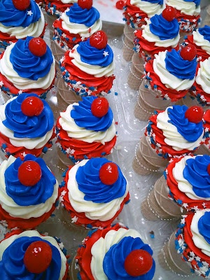 memorial day/4th of july cupcakes
