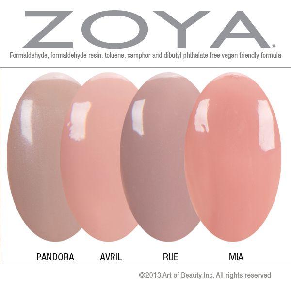 zoya nail polish in pandora avril and mia compared to